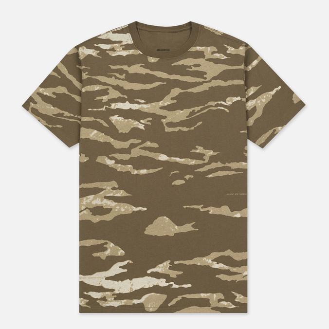 Мужская футболка maharishi Camo Slouch Tigerstripe Murale Sparse Maha Olive Natural