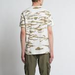 Мужская футболка maharishi Camo Slouch Tigerstripe Murale Sparse Maha White Natural фото- 4