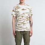 Мужская футболка maharishi Camo Slouch Tigerstripe Murale Sparse Maha White Natural фото- 3