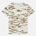 Мужская футболка maharishi Camo Slouch Tigerstripe Murale Sparse Maha White Natural фото- 0