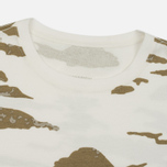 Мужская футболка maharishi Camo Slouch Tigerstripe Murale Sparse Maha White Natural фото- 1