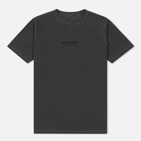 Мужская футболка maharishi Hemp Miltype Print Charcoal