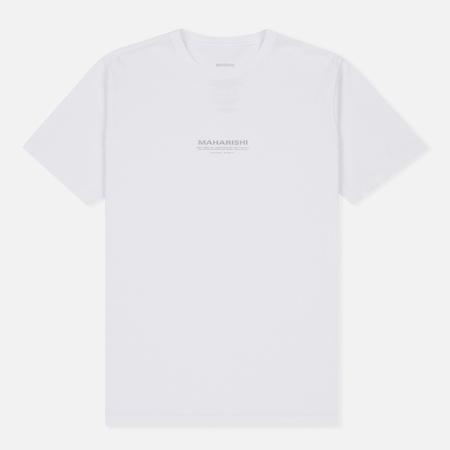Мужская футболка maharishi Hemp Miltype Print White