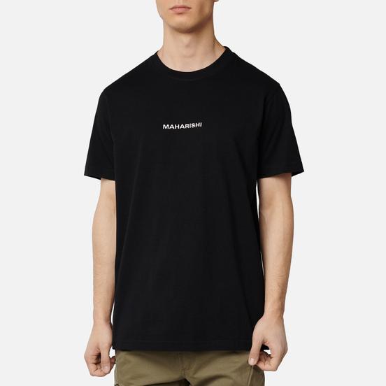 Мужская футболка maharishi Organic Military Type Embroidery Black