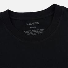 Мужская футболка maharishi Organic Military Type Embroidery Black фото- 1