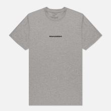 Мужская футболка maharishi Organic Military Type Embroidery Grey Marl фото- 2
