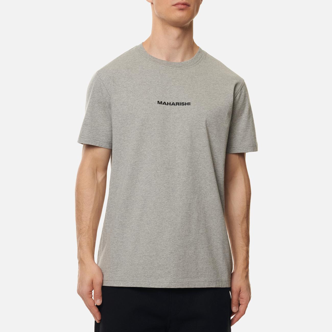 Мужская футболка maharishi Organic Military Type Embroidery Grey Marl