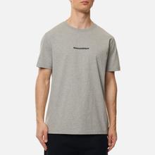 Мужская футболка maharishi Organic Military Type Embroidery Grey Marl фото- 0
