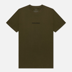 Мужская футболка maharishi Organic Military Type Embroidery Military Olive