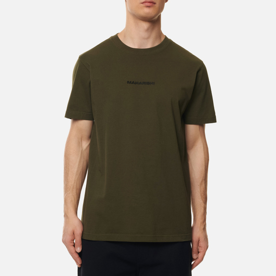 Мужская футболка maharishi Organic Military Type Embroidery Military Olive