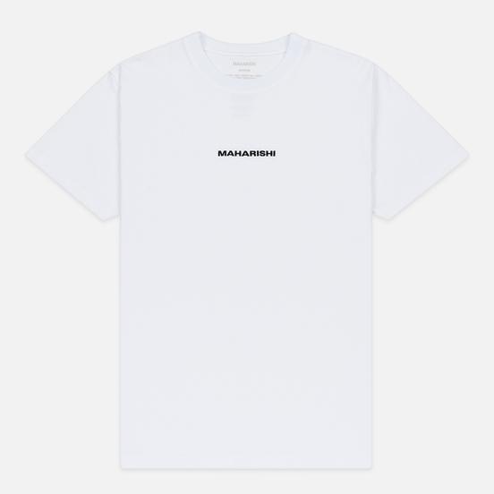 Мужская футболка maharishi Organic Military Type Embroidery White