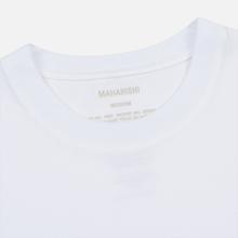 Мужская футболка maharishi Organic Military Type Embroidery White фото- 1