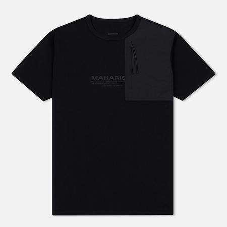 Мужская футболка maharishi Tech Travel Secure Zip Pocket Black