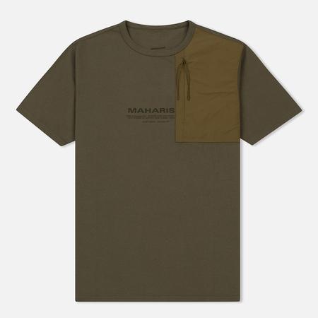 Мужская футболка maharishi Tech Travel Secure Zip Pocket Maha Olive