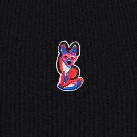 Мужская футболка Maison Kitsune Acide Fox Patch Black