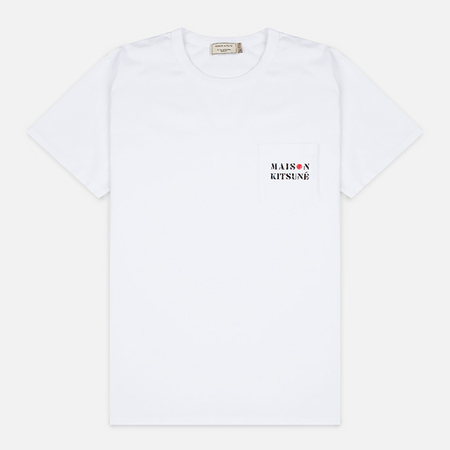 Maison Kitsune Army Men's T-Shirt White