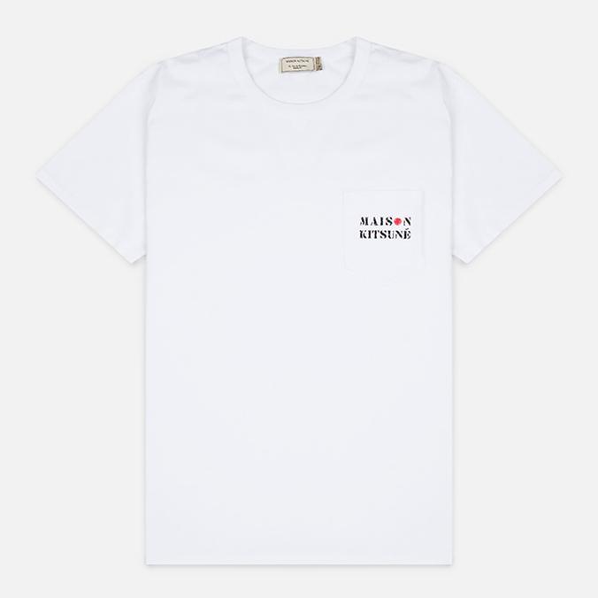 Мужская футболка Maison Kitsune Army White