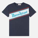 Мужская футболка Maison Kitsune Band Navy фото- 0