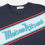 Мужская футболка Maison Kitsune Band Navy фото- 1