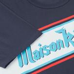 Мужская футболка Maison Kitsune Band Navy фото- 4