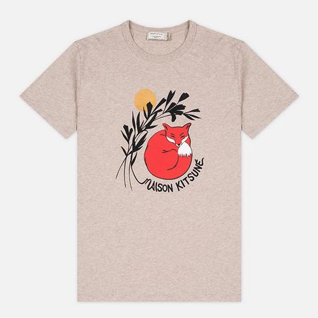 Мужская футболка Maison Kitsune Dan Ah Kim Sleeping Fox Beige Melange