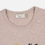 Мужская футболка Maison Kitsune Dan Ah Kim Sleeping Fox Beige Melange фото- 1