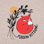 Мужская футболка Maison Kitsune Dan Ah Kim Sleeping Fox Beige Melange фото- 3