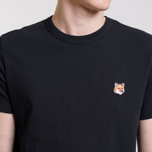 Мужская футболка Maison Kitsune Fox Head Patch Black фото- 4
