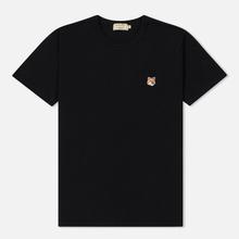 Мужская футболка Maison Kitsune Fox Head Patch Black фото- 0