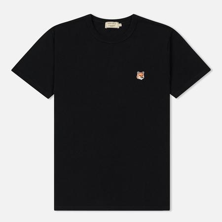 Мужская футболка Maison Kitsune Fox Head Patch Black