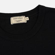 Мужская футболка Maison Kitsune Fox Head Patch Black фото- 1