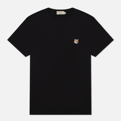 Мужская футболка Maison Kitsune Fox Head Patch Black