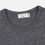 Мужская футболка Maison Kitsune Fox Head Patch Black Melange фото- 1