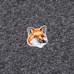 Мужская футболка Maison Kitsune Fox Head Patch Black Melange фото- 3
