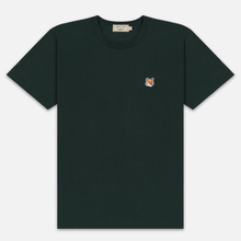 Мужская футболка Maison Kitsune Fox Head Patch Forest Green фото- 0
