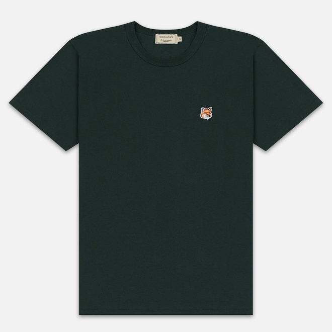Мужская футболка Maison Kitsune Fox Head Patch Forest Green