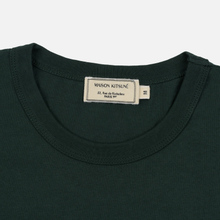 Мужская футболка Maison Kitsune Fox Head Patch Forest Green фото- 1