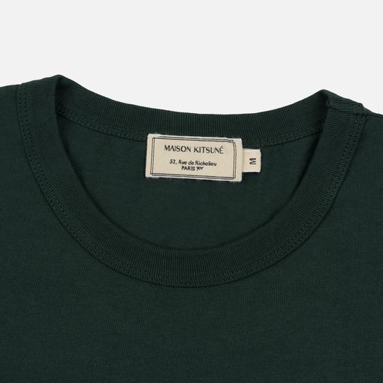 Мужская футболка Maison Kitsune Fox Head Patch Forest Green