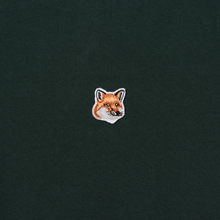 Мужская футболка Maison Kitsune Fox Head Patch Forest Green фото- 2