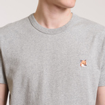 Мужская футболка Maison Kitsune Fox Head Patch Grey Melange фото- 4
