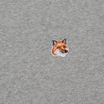 Мужская футболка Maison Kitsune Fox Head Patch Grey Melange фото- 2