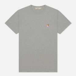 Мужская футболка Maison Kitsune Fox Head Patch Grey Melange