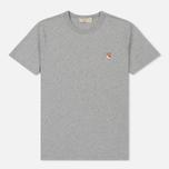 Мужская футболка Maison Kitsune Fox Head Patch Grey Melange фото- 0