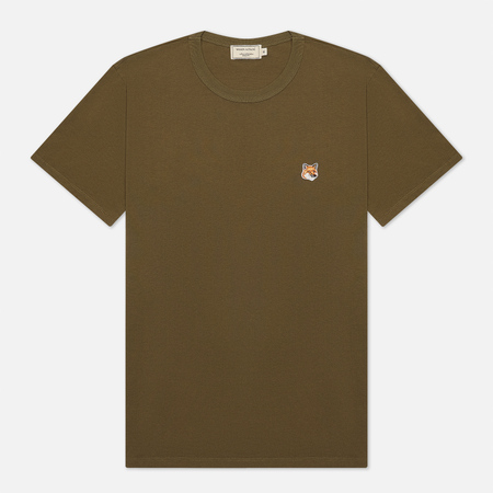 Мужская футболка Maison Kitsune Fox Head Patch Khaki