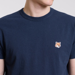 Мужская футболка Maison Kitsune Fox Head Patch Navy фото- 4
