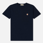 Мужская футболка Maison Kitsune Fox Head Patch Navy фото- 0