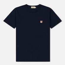 Мужская футболка Maison Kitsune Fox Head Patch Navy фото- 0