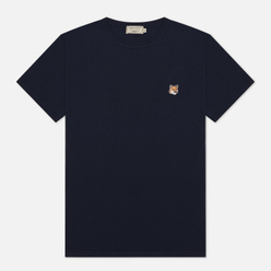 Мужская футболка Maison Kitsune Fox Head Patch Navy