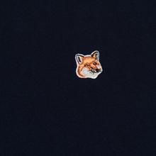 Мужская футболка Maison Kitsune Fox Head Patch Navy фото- 2