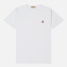 Мужская футболка Maison Kitsune Fox Head Patch White фото- 0